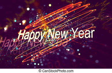 New year decoration over blurred background