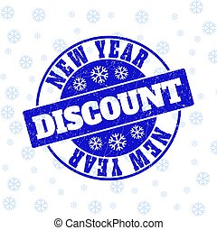 New Year Discount Scratched Round Stamp Seal for New Year