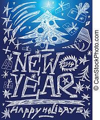 New Year - doodles set