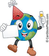 New Year Earth Mascot