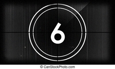 Animation of countdown on New Year Eve, from ten to zero in white numbers and in white circle on grey background
