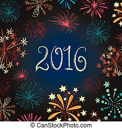 New year eve fireworks 2016 - Happy New 2016 Year. Seasons...
