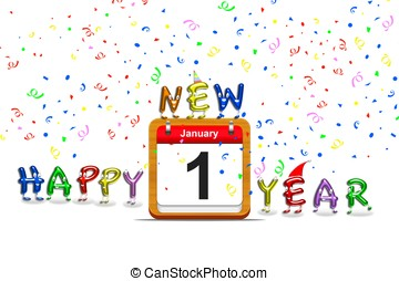 New year eve party. - Illustration calendar with new year...