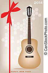 New Year Gift Card of A Classical Guitar