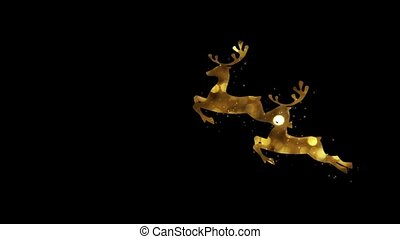 New year gold jewelry on a black background HD