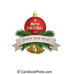 New Year greeting card logo