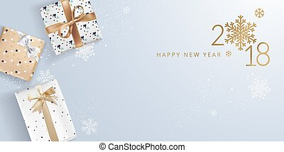 New Year greeting card - Luxurious vector illustration...