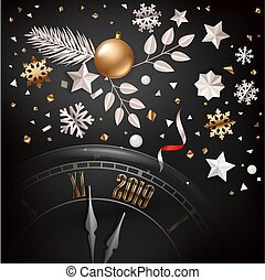 New year greeting card. Vector