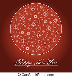 New year greeting card. Vector.