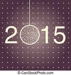 New year greeting template 2015.