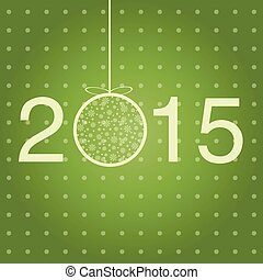 New year greeting template. Vector card.
