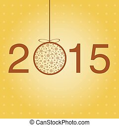 New year greeting template. Vector.
