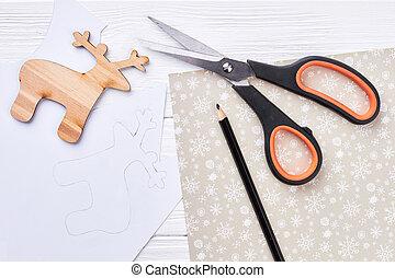 New Year handmade craft materials.