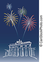 New Year in Berlin - illustration for a proposed new year's...