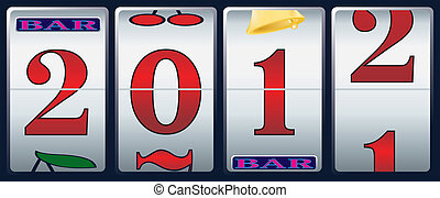 new year in slot machine