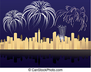 New Year in the city