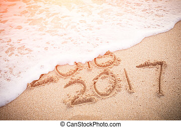New Year is coming concept - New Year 2017 is coming concept...