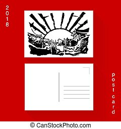New Year Japan Engraving Template