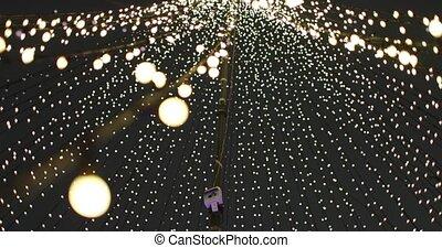 new year lights. City holiday illumination.