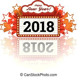 New Year marquee 2018