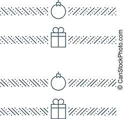 new year minimalistic text separator christmas theme linear border xmas decor