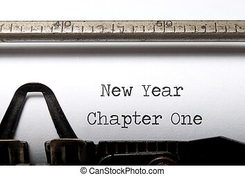 New Year - New year, new start concept