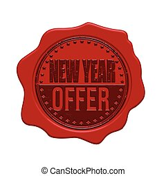 New Year offer wax seal