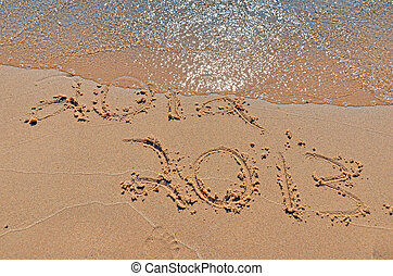 New year on beach