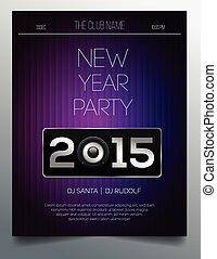 New year party flyer template 2015 - New year party flyer ...