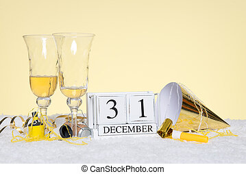 New Year party still life