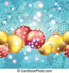 New Year pattern with Christmas ball. Sparkles and bokeh....
