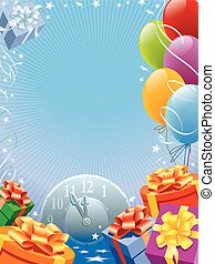 New Year poster - Background with design elements for the...