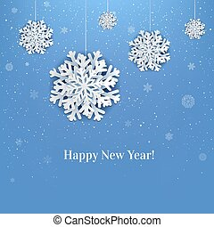 New Year Poster With Snowflake