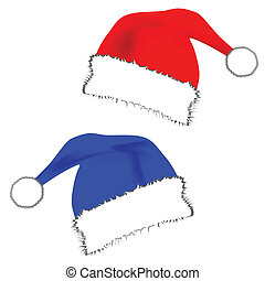 new year red and blue hat