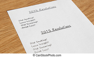 New year resolutions 2014