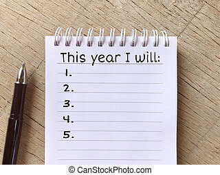 New Year resolutions concept.
