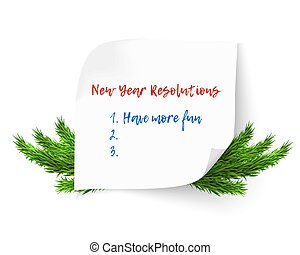New year resolutions - New Year Resolution and Goals hand...