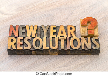 New Year resolutions question