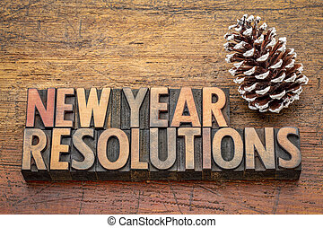 New Year resolutions word abstract