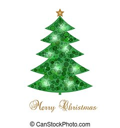 New Year s card with Christmas tree
