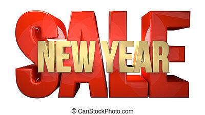 new year sale red golden design