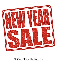 New year sale stamp