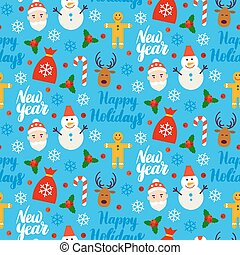 New Year Seamless Background