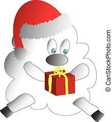 New year. Sheep. Vector. - Symbol of new year - a sheep. The...