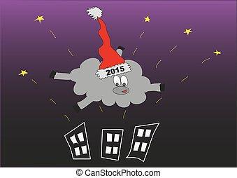 New year. Sheep. Vector.