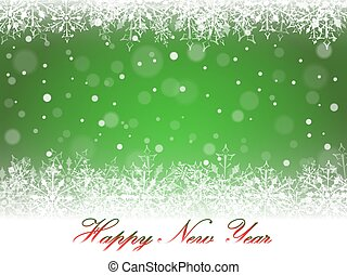 New Year snowflakes and snowdrift. - New Year snowflakes and...