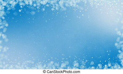 new year frame background abstract winter card animation with snowflakes stars and snow computer generated seamless loop