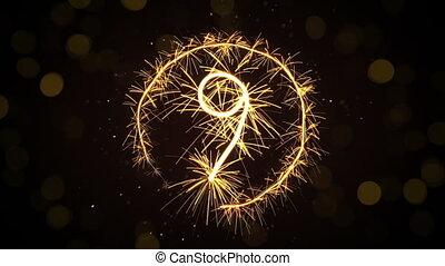 new year sparkler countdown