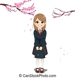 New Year Student Girl Uniform