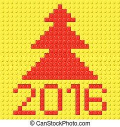 New Year symbols.